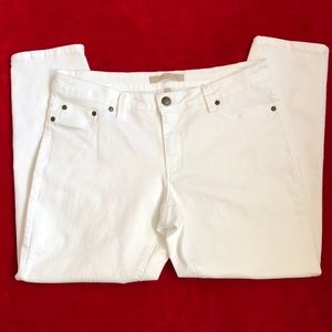 Max Jeans White Cropped Jeans